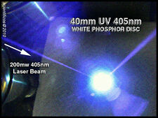 White Phosphor Target 40mm Diameter For Blu-Ray 405nm UltraViolet UV Lasers