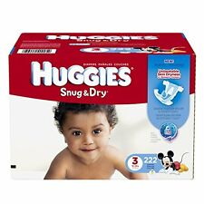 Huggies Snug and Dry Diapers, Size 3, Economy Plus Pack, 222 Count , New, Free S