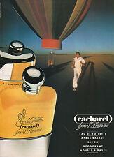 Publicité Advertising 1982  Parfum CACHAREL pour l'Homme Eau de Toilette
