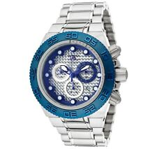 New Mens Invicta 10864 Subaqua Sport Swiss Chronograph Silver & Blue Dial Watch