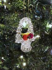 SET OF 3 SPUN GLASS FRUIT BASKET CHRISTMAS ORNAMENTS~ 2 1/2""
