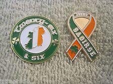 Twenty-Six & Six One Ireland Badge & Saoirse Ribbon Pin Set Of 2 irish Pins