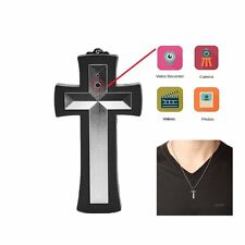 JC Cross Necklace Spy Camera, Ultimate Hidden Digital Camcorder- 8GB Internal to