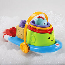 Fisher Price - Stackin' Tubtime Boat - Bath fun play age 6 - 36 months