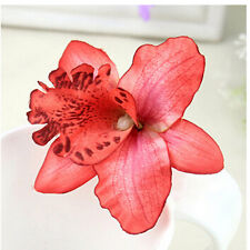 2Pcs Bridal Wedding Orchid Flower Hair Clip Barrette Women Girls Accessories SD