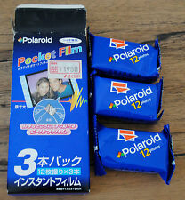 x 3 POLAROID POCKET FILM (36 photos) NEUF Exp 08/2001 Sticker film autocollant