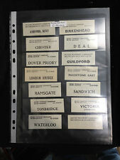 Old British Transport Commision Luggage Labels