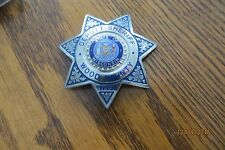 7 point obsolete deputy Wood County star  state of Wis old vtg sherrif badge