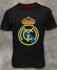 Real Madrid CR7 T-shirt Footbal Men's Cotton Ronaldo Black Tee Shirt M - 3XL