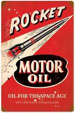 Retro Vintage Rocket Motor Oil Metal Sign Man Cave Garage Shop Wall Decor PTS257