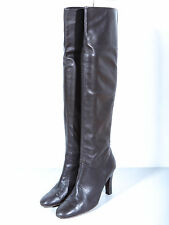 Authentic YVES SAINT LAURENT Vintage over knee Boots Leder Stiefel EU37 / UK4