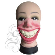 Half Face Comedy Funny People Big Toothy Grin Face Stag Hen Fancy Latex Mask