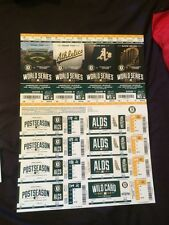 2014 OAKLAND ATHLETICS WORLD SERIES PLAYOFFS TICKET STRIP SHEET 12 GAMES