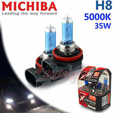 MICHIBA H8 12V 35W 5000K Diamond Xenon WHITE Light Bulbs for BMW Front Fog Lamp