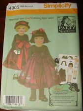 Simplicity Pattern 4905 Little Girls Dress by Patty Reed Size AA 3, 4, 5, 6