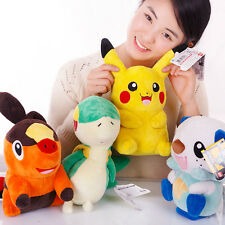 4PCS/Set Digimon Pikachu Pokemon Oshawott Snivy Plush Stuffed Animals Toy Doll