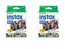 40 Prints Fuji Instant Wide Instax Film for Fujifilm 200, 210, 300 Camera 8/2018