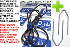Cavo Aux femmina kit LANCIA Y Ypsilon FIAT Punto EVO Young [NO SOURCE AVAILABLE]