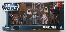 VHTF Star Wars EWOK PACK Flitchee,Nanta,Teebo,Kneesaa,Tippet TRU Exclusive NEW