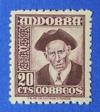 1948 ANDORRA SPANISH 20c SCOTT# 40 MICHEL # 44 UNUSED                    CS25498