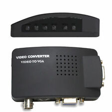 CCTV BNC Camera Composite S-video To VGA Converter Adapter In to PC VGA LCD Out