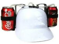 White Beer Helmet Drinking Helmet Hat Cap Game Drink Can Holder Soda Hen Stag Do
