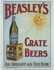 Beasley's Crate Beers small steel sign 200mm x 150mm (og)