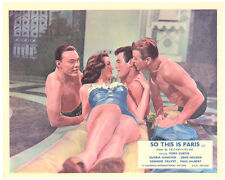 SO THIS IS PARIS ORIGINAL LOBBY CARD TONY CURTIS GBARECHESTED MARA CORDAY
