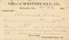 The Western Nail Company, Belleville IL 1885