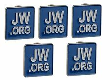 JW.ORG LAPEL PINS SQUARE BLUE TIE PINS SET OF 5