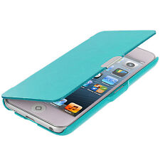 For iPod Touch 6th Gen 6G 6 Wallet Leather Hard Cover Case Pouch Baby Blue
