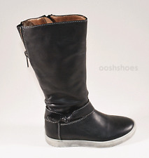 Noel Judith Girls Black Leather Zip Boots UK 11 EU 29 US 11.5