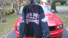 Boston Red Sox Jeff Hamilton Designer 2004 World Series Wool/Leather Jacket 4XL