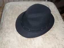 Crafted Unisex Black Trilby Hat One Size