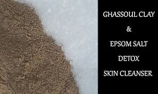 RHASSOUL CLAY & EPSOM SALT- DETOX SKIN CLEANSER MASK - 1KG