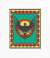 SOUTHWESTERN EAGLE~PONY BEAD BANNER PATTERN ONLY