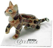 "Little Critterz Miniature Porcelain Animal Marble Bengal Kitten ""Spirit"" LC910"