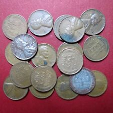 *CIRCULATED, Mixed LOT of 18 Vintage  LINCOLN WHEATCENTS, Coin Lot #3