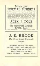 1937 S Pear Mitre Works Je Brook Plymouth Alex Cole Ilford Scrap Ad