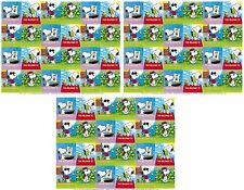 3 LARGE Sheets SNOOPY WOODSTOCK This Belongs TO Book Plate Stickers