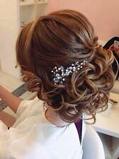 Crystal & Pearl Wedding Proms Bridal Hair Vine Comb Headband Pin Headpiece