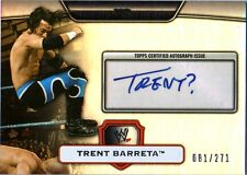 WWE Trent Barreta Topps Platinum 2010 SILVER Authentic Autograph Card 81 of 271