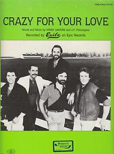 Crazy For Your Love - Exile - 1984 Sheet Music