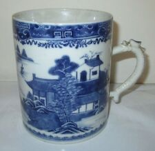 ANTIQUE CHINESE EXPORT TANKARD CIRCA Lt, 1700's DRAGON HANDLE NICHOLASVILLE ,KY