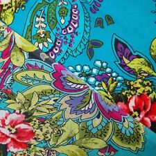 "44"" Wide Indian Cotton Fabric Blue Floral Dressmaking Craft Supplies By 1 Metre"