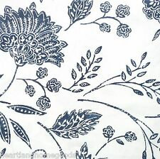 TOMMY BAHAMA SUNKISSED DAY BLUE FLORAL Fabric Shower Curtain WHITE COTTAGE NEW
