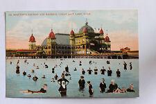 Old UDB postcard BEAUTIFUL SALTAIR AND BATHERS, GREAT SALT LAKE UTAH