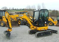 JCB 8025 ZTS MINI DIGGER COMPLETE DECAL SET WITH SAFTY WARNING