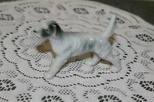 VINTAGE...CERAMIC....WHITE & GRAY POINTER DOG... JAPAN