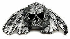 Skull Belt Buckle Fully 3D Totenkopf & Crown Gothic Heavy Official Pagan Product